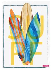 Surf Illustration / t-shirt graphics / vectors/ typography
