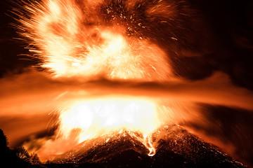 Poster Volcano Volcano Etna Eruption
