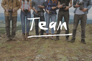 Team friends teamwork photographers concept