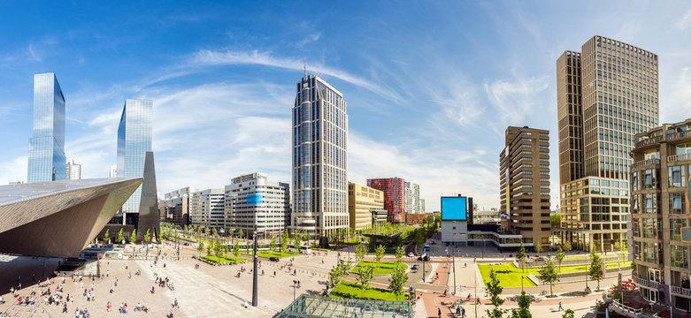 Skyline der Stadt Rotterdam, Niederlande