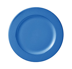 blue plate isolated