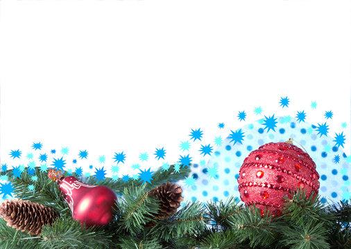 Фон, поздравление с Новым годом, Рождеством.