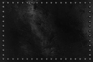 9e24ee924f156 Black metal plate texture with rivet.