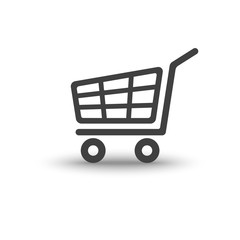 Shopping cart trolley with soft shadow icon