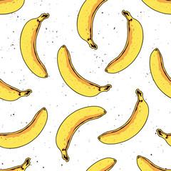 Vector seamless banana pattern. Modern tropical print