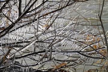 琵琶湖のしぶき氷