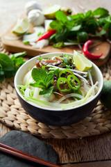 Spicy vegetarian noodle vietnamese