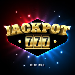 Jackpot 777, lucky triple sevens jackpot casino banner.