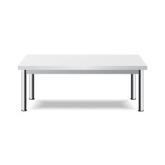 White Table. Platform Stand. Template for Object. Presentation.Vector Illustration.
