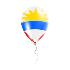 Antigua and Barbuda balloon with flag. Bright Air Ballon in the Country National Colors. Country Flag Rubber Balloon. Vector Illustration.