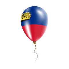 Liechtenstein balloon with flag. Bright Air Ballon in the Country National Colors. Country Flag Rubber Balloon. Vector Illustration.