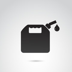 Petrol container vector icon.