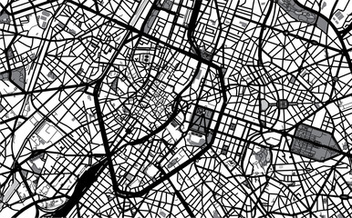 City map of Brussels