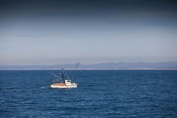The boat in the ocean, Monterey bay, California, USA