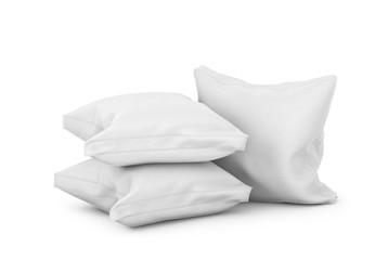 Pillows on white background. 3d illustration