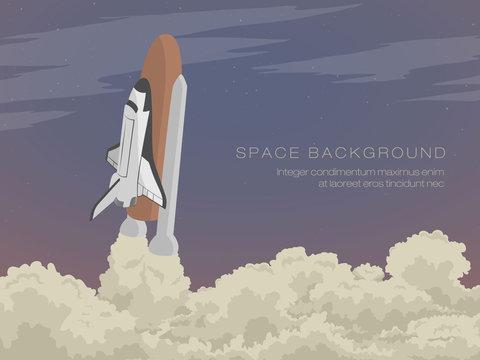 blast off launch pad Shuttle