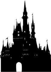 ディズニーのシンデレラ城シルエット