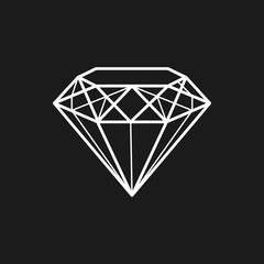 Diamond. Jewel. Decoration. Vector, contour icon