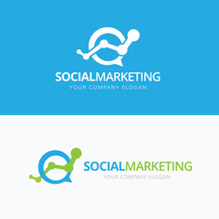 Social Marketing Logo Template.