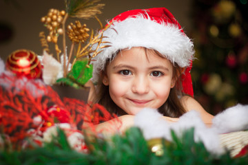 Face child waiting for Christmas