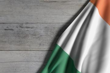 Ireland flag waving