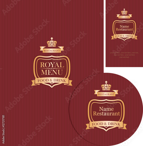 Set of design elements for a cafe or restaurant with cover menu set of design elements for a cafe or restaurant with cover menu stand for drinks reheart Choice Image
