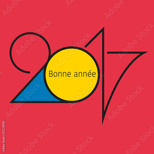 """Connu 2017 - Carte de vœux - Design - Graphique"""" fichier vectoriel libre  KY89"""