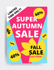 Eye catching design autumn sale