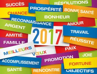 2017 - Carte de vœux - Souhaits