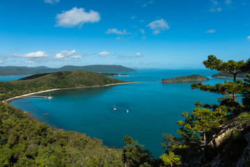 Aerial view of South Molle Island part of the Whitsunday Islands in Australia