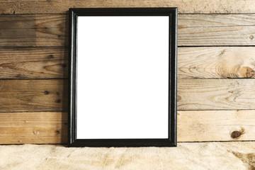 Standing black frame mockup