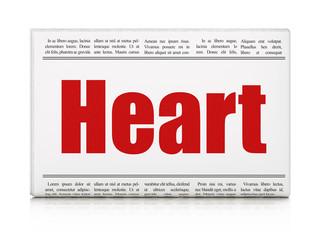 Healthcare concept: newspaper headline Heart