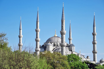 A view of the Blue Mosque in Istanbul