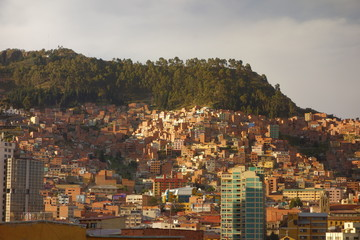 La Paz at sundown