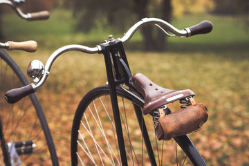 A penny-farthing bicycle