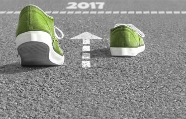 Endspurt ins Jahr 2017 Fototapete
