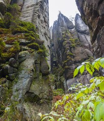 National Park of Czech Republic Teplice rocks. Rock Town.