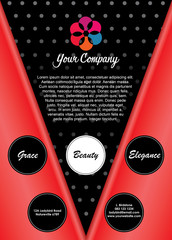 Ladybird Flyer Brochure Layout Template