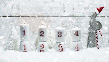 2. Advent Kerzen licht