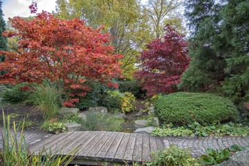Herbst in Hamburg - Park Planten un Blomen und japanischer Garten