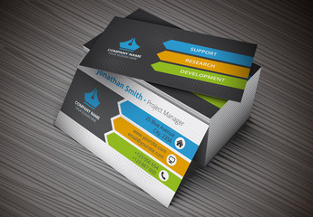 Business Card with Arrow Design Layout
