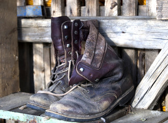 old countryside boots