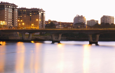 bridge over a sea in the city of Vigo