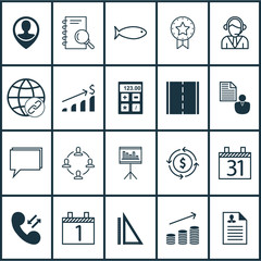 Set Of 20 Universal Editable Icons. Can Be Used For Web, Mobile And App Design. Includes Icons Such As Connectivity, Presentation, Cellular Data And More.