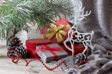 Christmas gifts in boxes