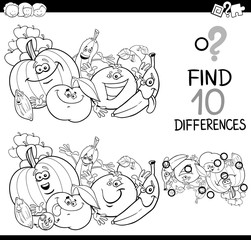 find the difference coloring page