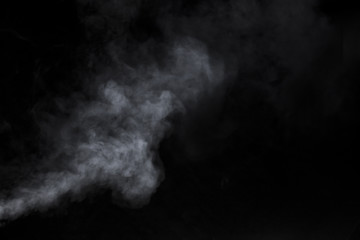 Smoke and Fog on Black Background