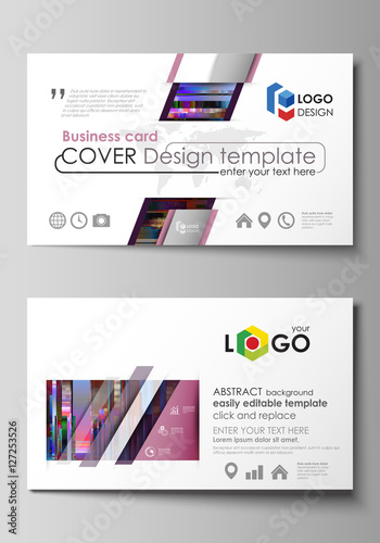 Business card templates easy editable layout abstract vector business card templates easy editable layout abstract vector design template glitched background made reheart Choice Image