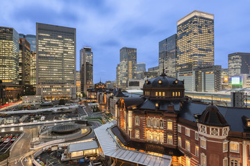 Marunouchi Business District and Tokyo Station