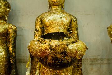 Samut Songkhram, Thailand - November, 12, 2016 : Golden buddha s